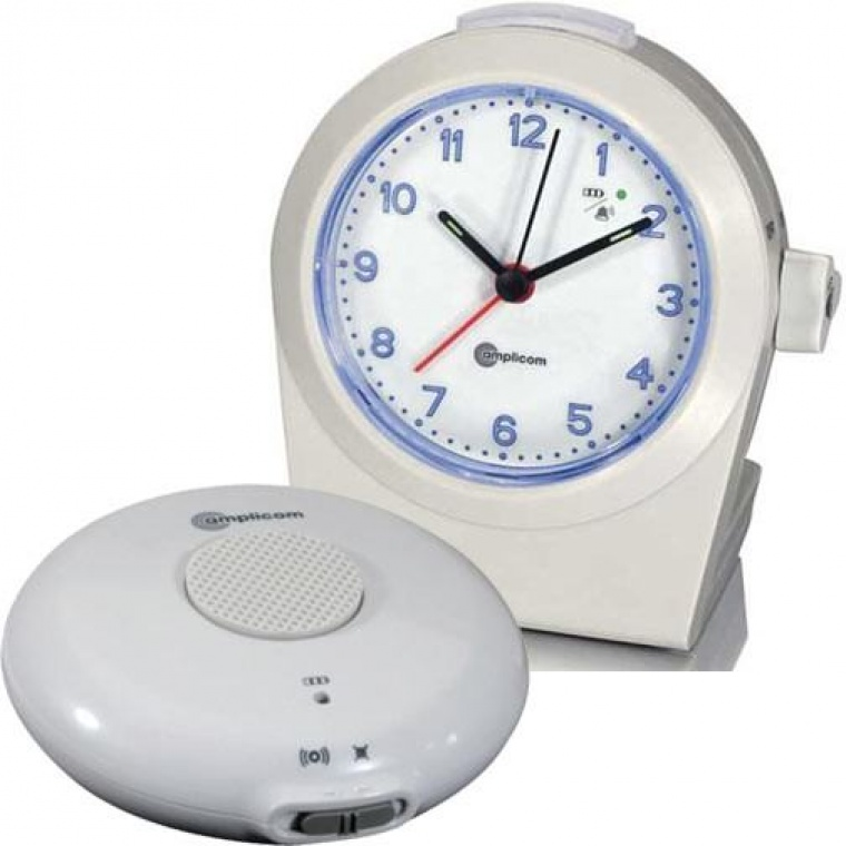 tcl 100 analog alarm clock with wireless bed shaker. Black Bedroom Furniture Sets. Home Design Ideas