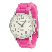 9d92f5e1d92 Ladies Touch Talking Watch - Grande Face - Pink Rubber Band - Espanhol  (702169)